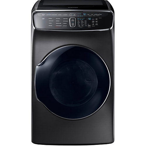 7.5 cu. ft. Front Load Electric Dryer with FlexDry in Black Stainless Steel - ENERGY STAR®