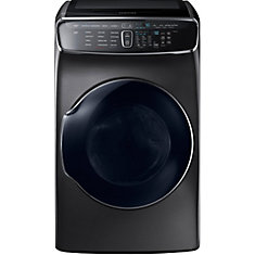 FlexDry 7.5 cu. ft. Front-Load Electric Dryer with Delicate Dry Compartment in Black Stainless Steel - ENERGY STAR®