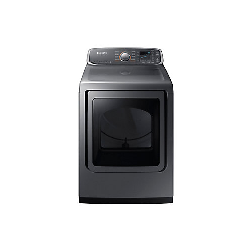 7.4 cu.ft. Front Load Electric Dryer with Steam in Platinum - ENERGY STAR®