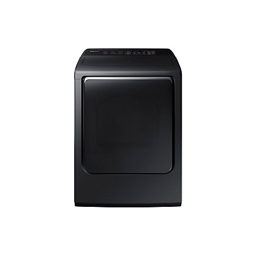 7.4 cu. ft. Front Load Electric Dryer with Steam in Black Stainless Steel - ENERGY STAR®