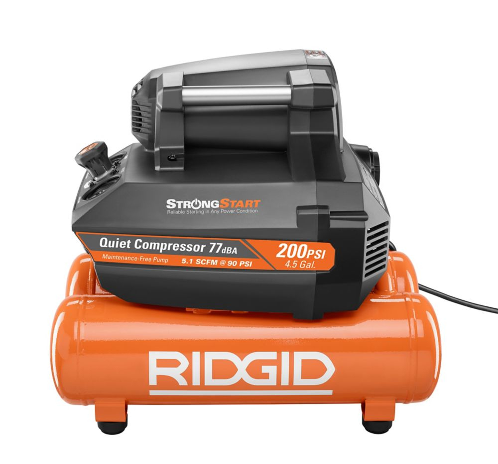 RIDGID  Compresseur d'air à technologie Strong Start, 4,5 gallons