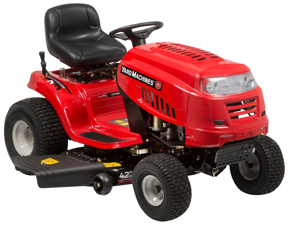Yard Machines 42-inch Lawn Tractor, 6 Speed transmission - 547cc 13A8765S500