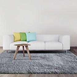 Lanart Rug Lush Shag Grey 7 ft. x 9 ft. Indoor Contemporary Rectangular Area Rug