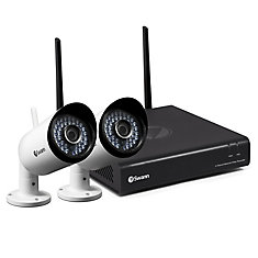 Wi-Fi HD Security System with 2 x 1080p Day/Night Cameras & Smartphone Connectivity