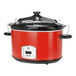 Kalorik 8L Digital Slow Cooker with Locking Lid in Red