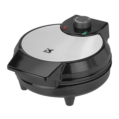 Kalorik Traditional Belgian Waffle Maker in Black and Stainless Steel