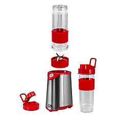 Red and Stainless Steel Personal Blender