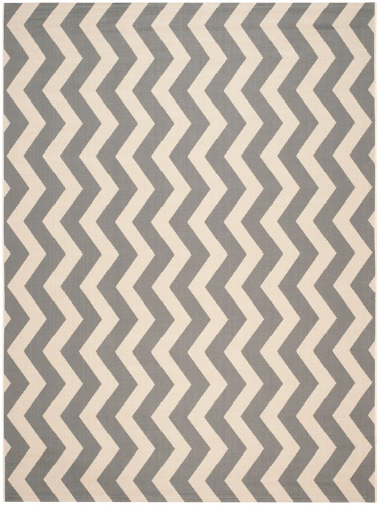 Safavieh Courtyard Jim Grey / Beige 6 ft. 7 inch x 9 ft. 6 inch Indoor/Outdoor Area Rug