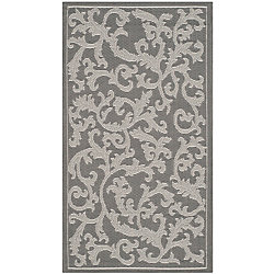 Safavieh Courtyard Bo Anthracite / Light Grey 2 ft. x 3 ft. 7 inch Indoor/Outdoor Area Rug