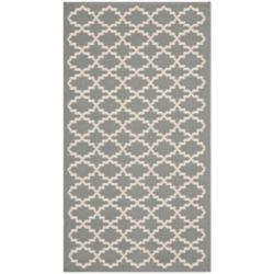 Safavieh Courtyard Jay Anthracite / Beige 2 ft. x 3 ft. 7 inch Indoor/Outdoor Area Rug