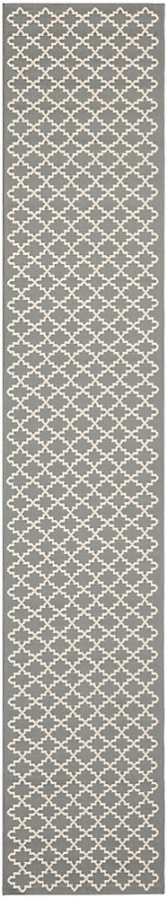 Courtyard Jay Anthracite / Beige 2 ft. 3 inch x 12 ft. Indoor/Outdoor Runner