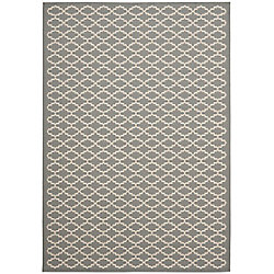 Safavieh Courtyard Jay Anthracite / Beige 4 ft. x 5 ft. 7 inch Indoor/Outdoor Area Rug