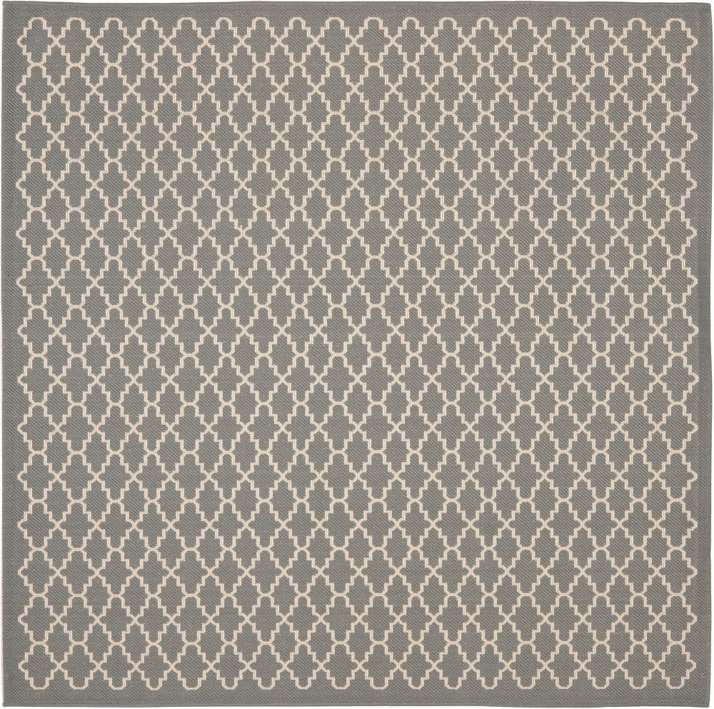 Safavieh Courtyard Jay Anthracite / Beige 6 ft. 7 inch x 6 ft. 7 inch Indoor/Outdoor Square Area Rug