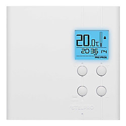 STELPRO White Multiple Programmable Electronic stat backlighted 4000W 240V