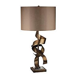 Titan Lighting Allen Metal Sculpture Table Lamp in Roxford Gold