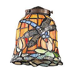 Mix-N-Match 1 Light Tiffany Dragonfly Glass Shade