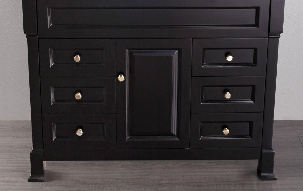 Bosconi Bosconi 42.50-inch W 6-Drawer 1-Door Freestanding Vanity in Black