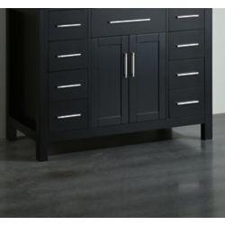 Bosconi 42.50-inch W 8-Drawer 2-Door Freestanding Vanity in Black