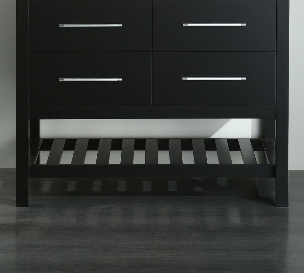 Bosconi Bosconi 42.50-inch W 2-Drawer Freestanding Vanity in Black