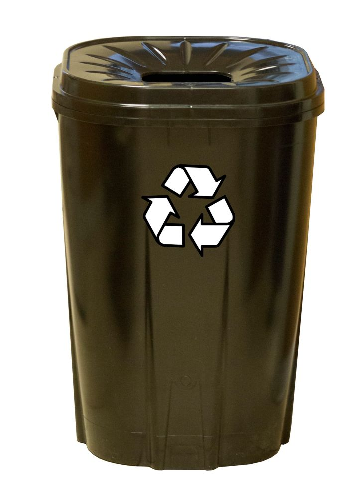 55 gallon Recycling bin black
