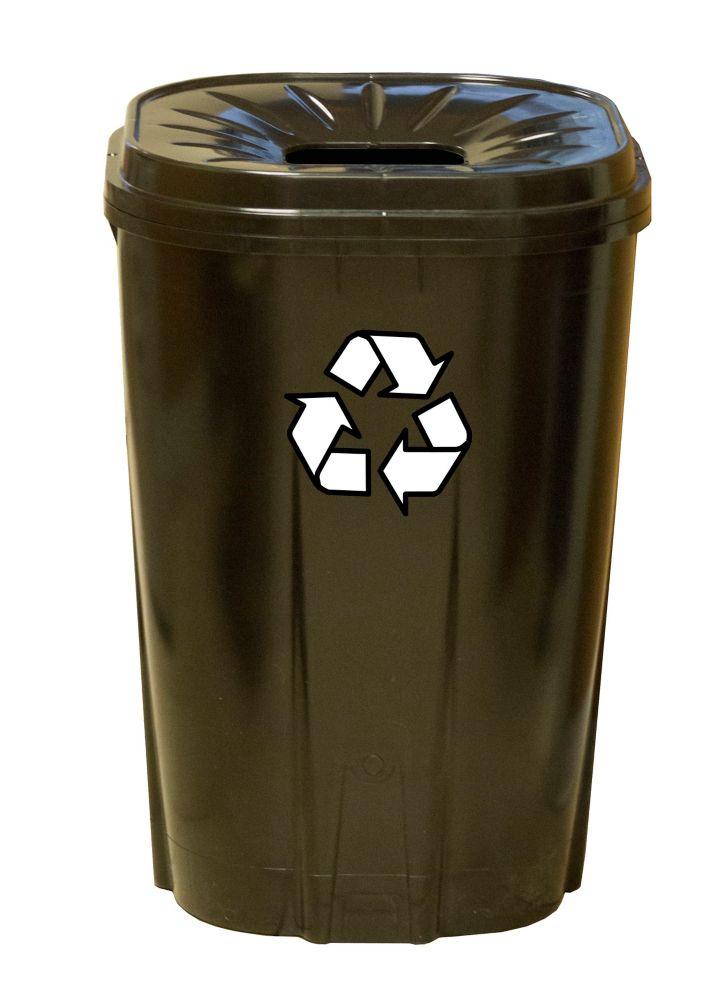 Enviro World 55 gallon Recycling bin black