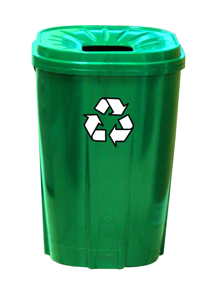 55 gallon Recycling bin Green