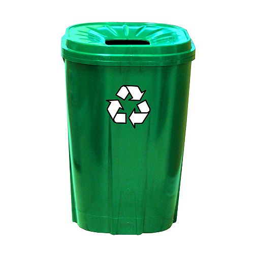 Enviro World 55 gallon Recycling bin Green