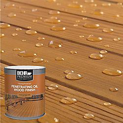 Behr Premium Fini d'huile pénétrant et transparent pour bois - Cèdre ton naturel, 946 mL