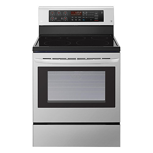 6.3 cu. ft. Electric Range with EasyClean and True Convection in Stainless Steel
