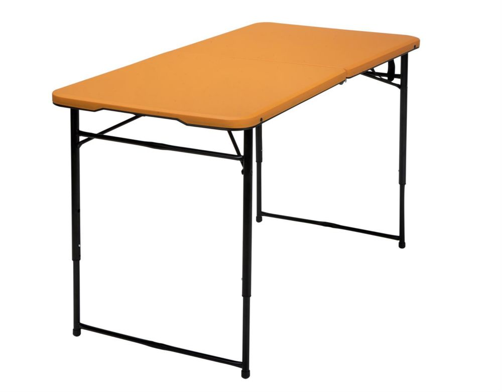 Lifetime 37 inch square card table almond the home for Table pliante walmart