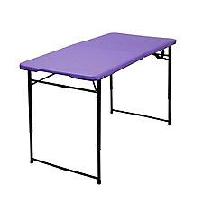 Purple Adjustable Folding Indoor/Outdoor Table