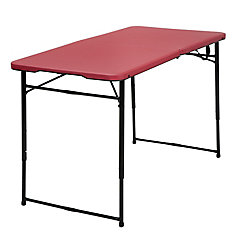 Red Adjustable Folding Indoor/Outdoor Table