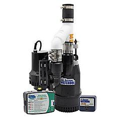 1/2 HP grande combinaison pompe de puisard avec système de pompe de carter de secours spéciale