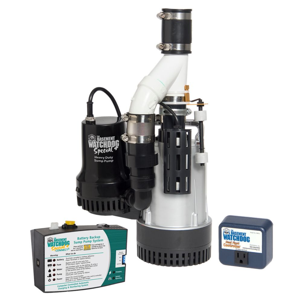 Basement Watchdog 1/2 HP Big Combination Sump Pump System with Special  Backup Sump Pump System | The Home Depot Canada