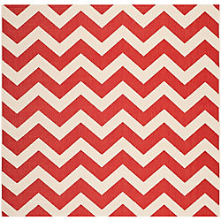Safavieh Courtyard Jax Red 6 ft. 7 inch x 6 ft. 7 inch Indoor/Outdoor Square Area Rug