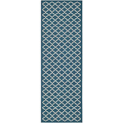 Safavieh Courtyard Jay Navy / Beige 2 ft. 3 inch x 20 ft. Indoor/Outdoor Runner