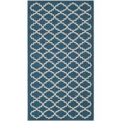 Safavieh Courtyard Blue 2 ft. 7-inch x 5 ft. Indoor/Outdoor Rectangular Area Rug - CY6919-268-3