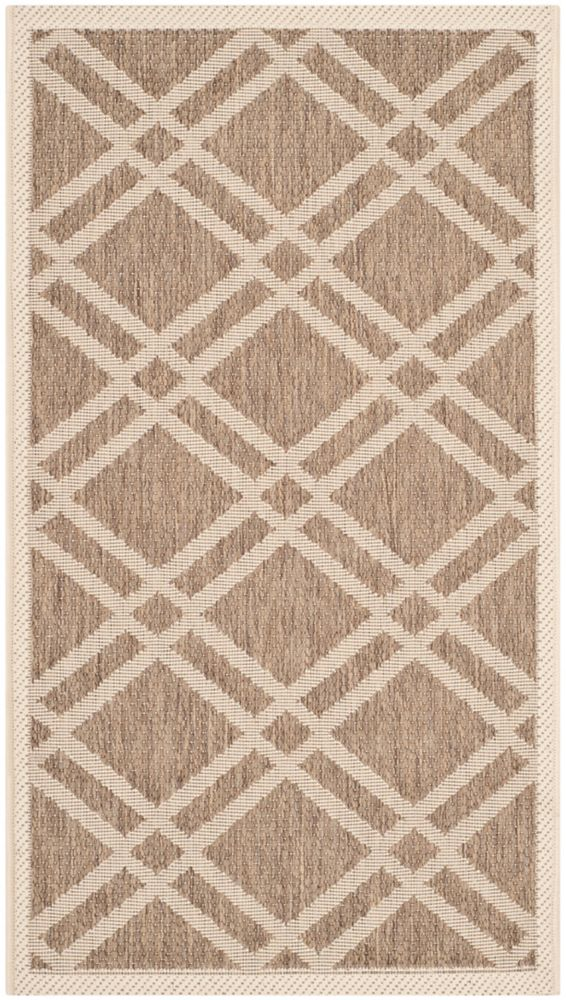 Safavieh Courtyard Levi Brown / Bone 2 ft. x 3 ft. 7 inch Indoor/Outdoor Area Rug