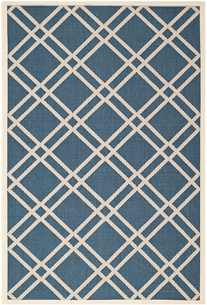 Courtyard Blue 5 ft. 3-inch x 7 ft. 7-inch Indoor/Outdoor Rectangular Area Rug - CY6923-268-5