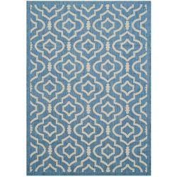 Safavieh Courtyard Blue 2 ft. 7-inch x 5 ft. Indoor/Outdoor Rectangular Area Rug - CY6926-243-3