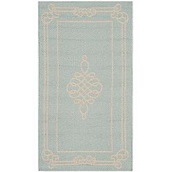 Safavieh Courtyard Blue 2 ft. 7-inch x 5 ft. Indoor/Outdoor Rectangular Area Rug - CY6788-25-3