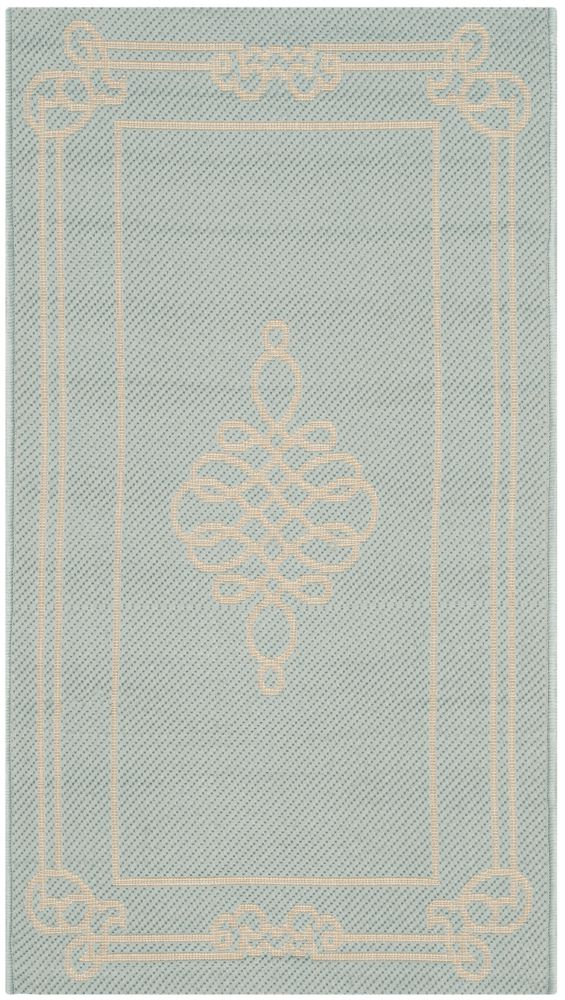 Safavieh Courtyard Blue 2 ft. 7-inch x 5 ft. Indoor/Outdoor Rectangular Area Rug - CY6788-25-3