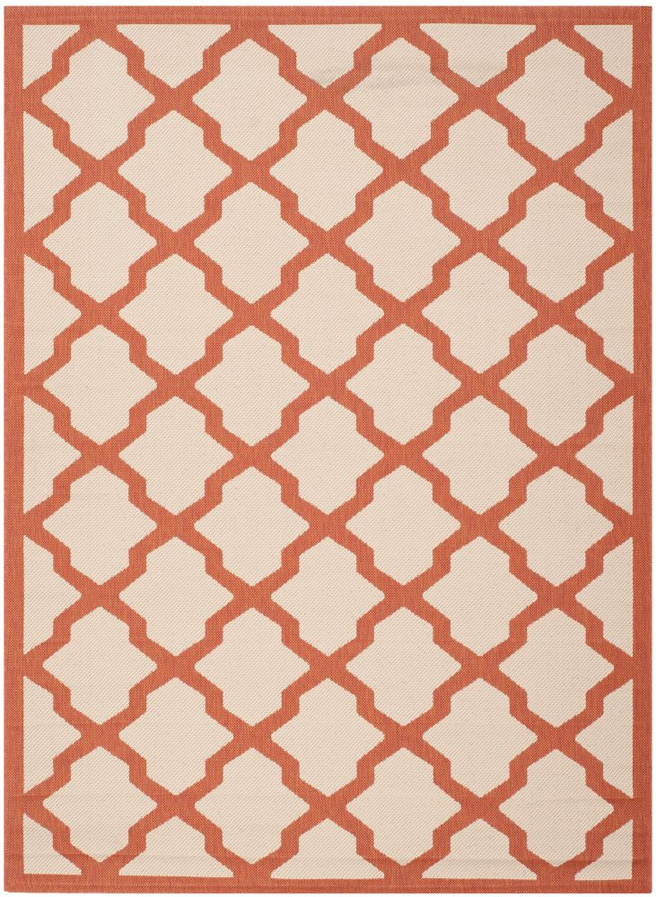 Safavieh Courtyard Kylo Beige / Terracotta 5 ft. 3 inch x 7 ft. 7 inch Indoor/Outdoor Area Rug