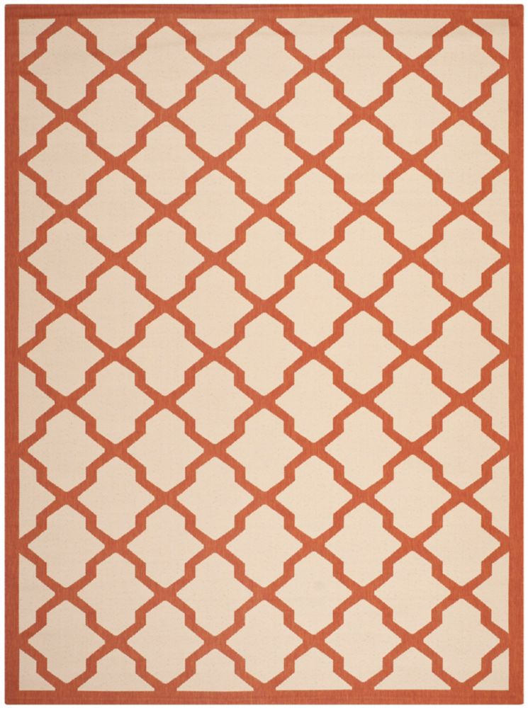 Safavieh Courtyard Kylo Beige / Terracotta 6 ft. 7 inch x 9 ft. 6 inch Indoor/Outdoor Area Rug