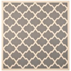 Safavieh Courtyard Kylo Anthracite / Beige 6 ft. 7 inch x 6 ft. 7 inch Indoor/Outdoor Square Area Rug
