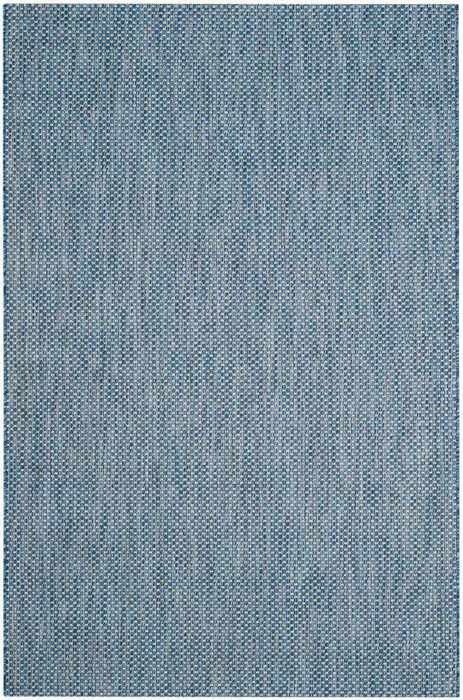 Safavieh Courtyard Blue 5 ft. 3-inch x 7 ft. 7-inch Indoor/Outdoor Rectangular Area Rug - CY8521-36821-5