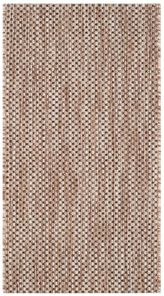 Safavieh Courtyard Neal Natural / Black 2 ft. x 3 ft. 7 inch Indoor/Outdoor Area Rug
