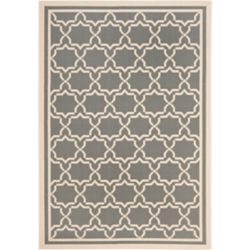 Safavieh Courtyard Jaron Anthracite / Beige 4 ft. x 5 ft. 7 inch Indoor/Outdoor Area Rug