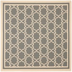 Safavieh Courtyard Jaron Anthracite / Beige 5 ft. 3 inch x 5 ft. 3 inch Indoor/Outdoor Square Area Rug
