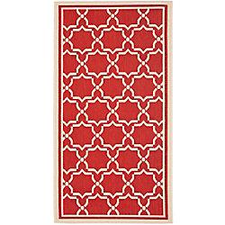 Safavieh Courtyard Jaron Red / Bone 4 ft. x 5 ft. 7 inch Indoor/Outdoor Area Rug